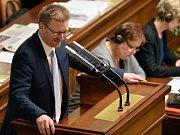 Předseda poslaneckého klubu hnutí Úsvit Marek Černoch na schůzi Poslanecké sněmovny, která pokračovala 11. ledna v Praze.
