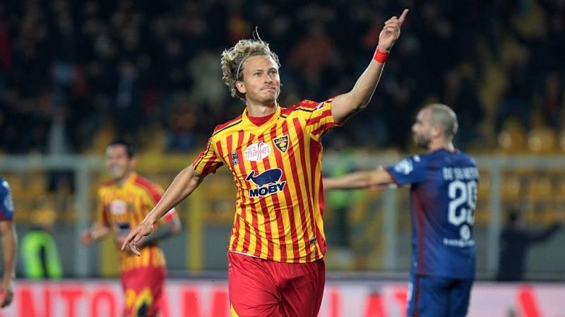 Antonín Barák se raduje z první branky v dresu Lecce.