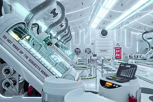 Ilustrace, jak by mohly vypadat hibernační komory při letu do vesmíru.