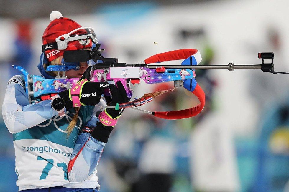 Biatlonistka Barbora Havlíčková na ZOH.