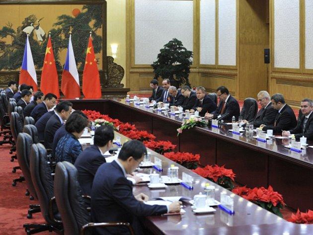 Prezident Miloš Zeman se dnes na závěr své návštěvy Číny v Pekingu setkal se svým čínským protějškem Si Ťin-pchingem.