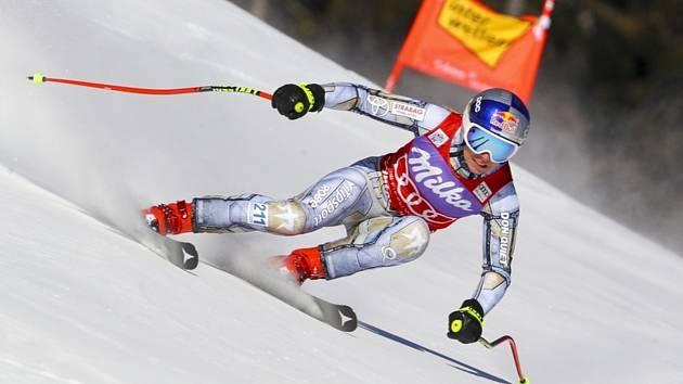 Česká lyžařka Ester Ledecká při závodě Světového poháru ve sjezdovém lyžování super-G 10. ledna v rakouském Svatém Antonu