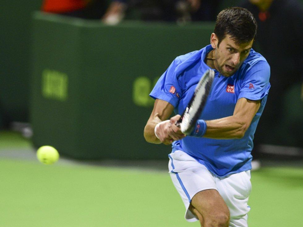 Novak Djokovič na turnaji v Dauhá.