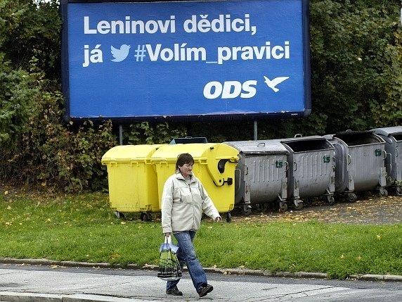 Předvolební billboard ODS.