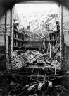 Pohled do interiéru Národní divadla po požáru v roce 1881