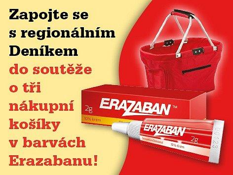 Stačí jen správně odpovědět na otázku a 3 soutěžící vyhrávají nákupní košíček v barvách Erazabanu.