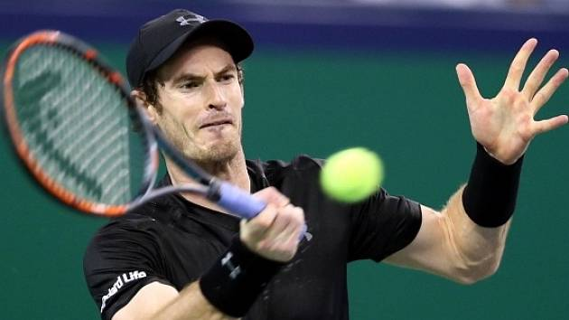 Andy Murray na turnaji v Šanghaji