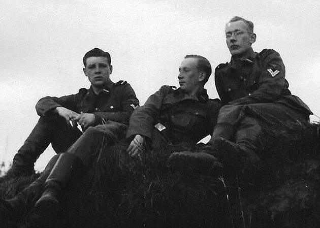 Franz Wunsch (vlevo) se svými kumpány