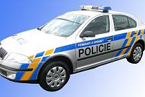 Nová policejní Škoda Octavia na parkovišti v Mladé Boleslavi, nedaleko automobilky Škoda Auto.