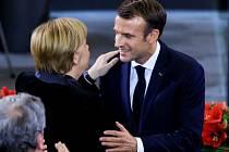 Francouzský prezident Emmanuel Macron navštívil Berlín
