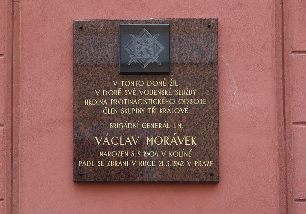 Pamětní deska Václava Morávka