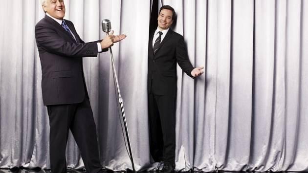Jay Leno (vlevo) a Jimmy Fallon.
