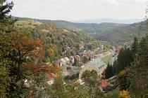 Pohled na město Jáchymov