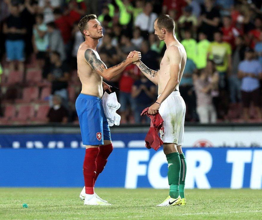 Zápas fotbalové kvalifikace ME 2020 ve fotbale mezi Českem a Bulharskem na Letné. Ladislav Krejčí (vlevo).