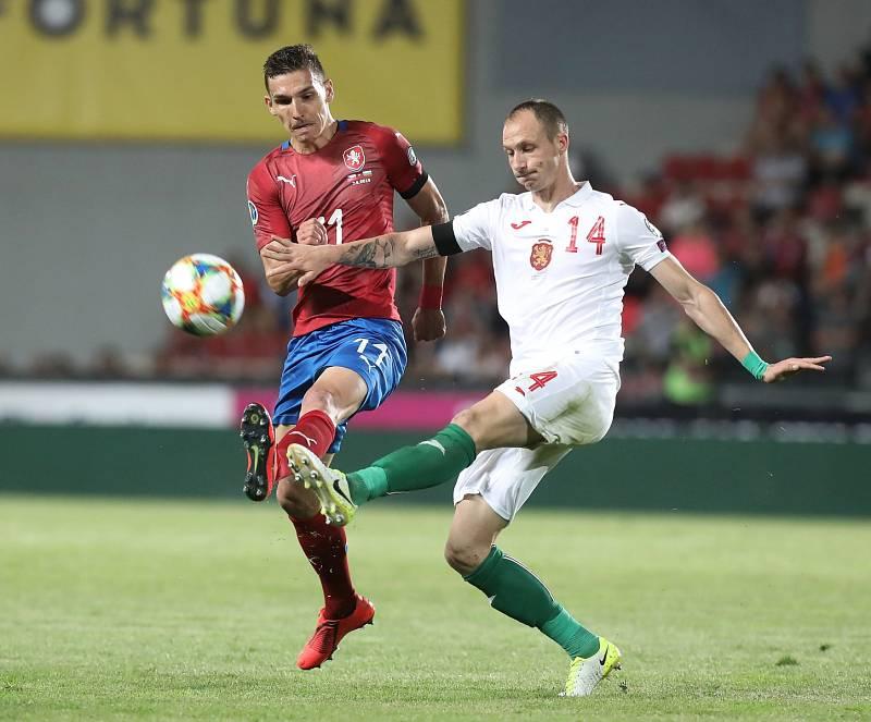 Zápas fotbalové kvalifikace ME 2020 ve fotbale mezi Českem a Bulharskem na Letné. David Pavelka.