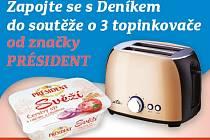 Zapojte se s Deníkem do soutěže o tři topinkovače značky Président