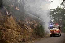 Lesní požár v Austrálii.