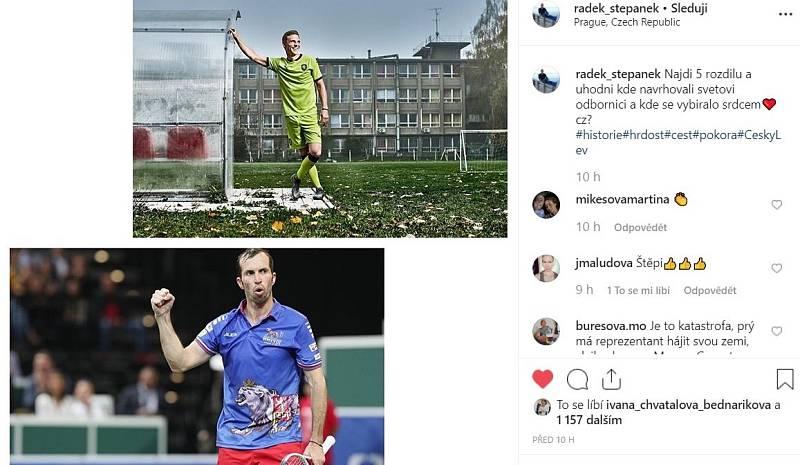 Reakce Radka Štěpánka na nové dresy české fotbalové reprezentace.