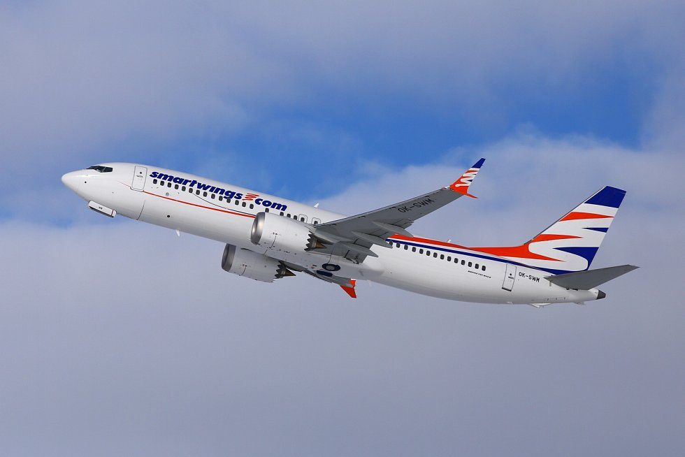 Letoun Boeing 737 MAX v barvách Smartwings - Ilustrační foto