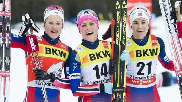 Norky ovládly druhou etapu Tour de Ski: První byla Therese Johaugová