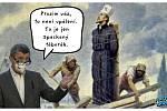 Největší kritický a satirický ohlas sklidil Babišův výrok o útoku na zboží
