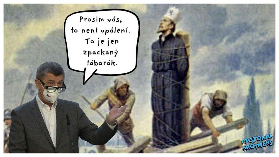Největší kritický a satirický ohlas ale sklidil Babišův výrok o útoku na zboží