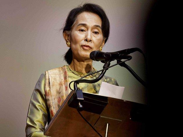 Barmská politička a nositelka Nobelovy ceny Su-Ťij