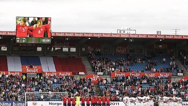 Minuta ticha před utkáním Norska proti České republice.