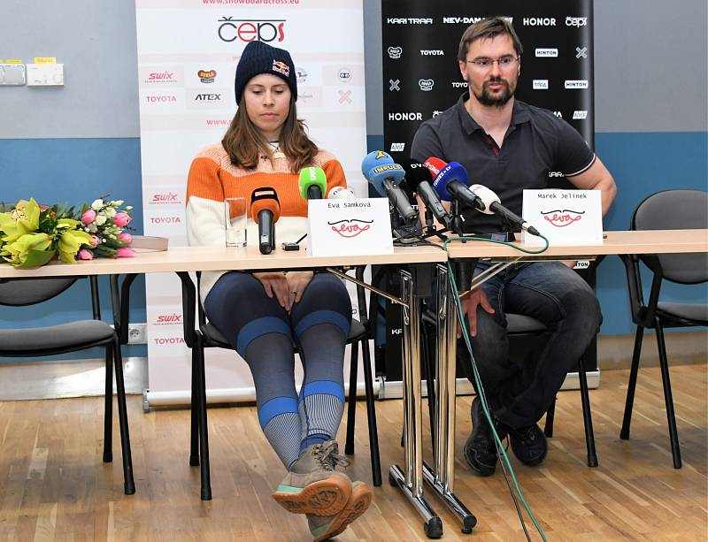 Eva Samková s trenérem Markem Jílkem
