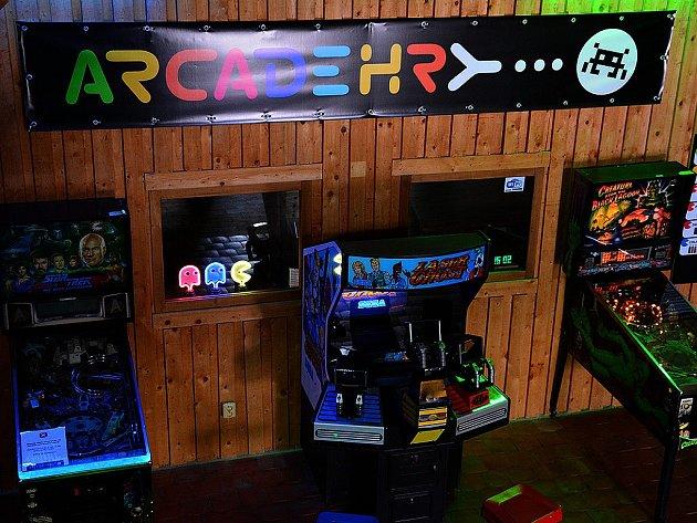 Herna a muzeum Arcade Hry.