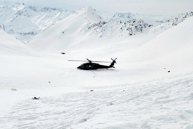 Místo, kde se zřítila helikoptéra s Petrem Kellnerem.