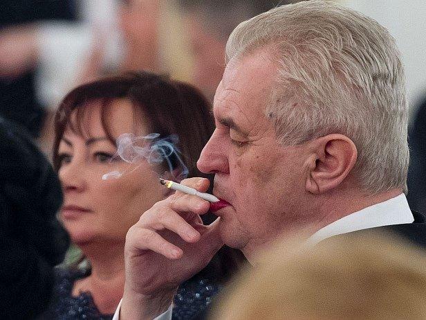 Miloš Zeman s manželkou Ivanou.
