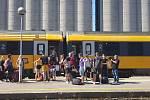 První vlak RegioJetu dorazil do stanice Rijeka.