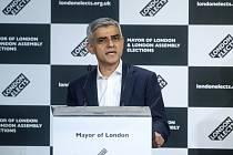 Znovuzvolený starosta Londýna Sadiq Khan na snímku z 8. května 2021