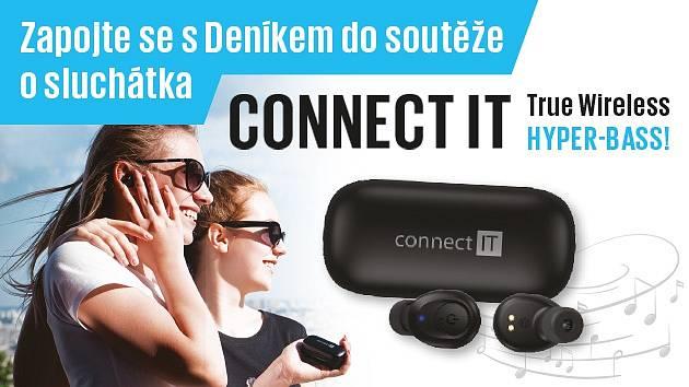 Zapojte se sDeníkem do soutěže o sluchátka CONNECT IT True Wireless HYPER-BASS.