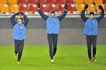 Na večerním tréniku Sparty bylo veselo. Vydrží Pražanům úsměvy i po večerním utkání s Kodaní?