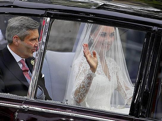 Nevěsta Kate Middleton.