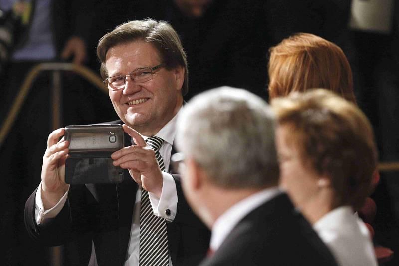 Zdeněk Škromach na předávání státních vyznamenání 28. října 2015