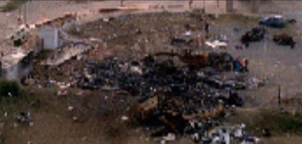 Místo havárie letu LAPA 3142