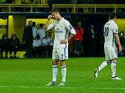 Hvězda Realu Madrid Cristiano Ronaldo po neproměněné šanci.