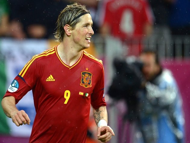 Hvězdný kanonýr Španělska Fernando Torres.