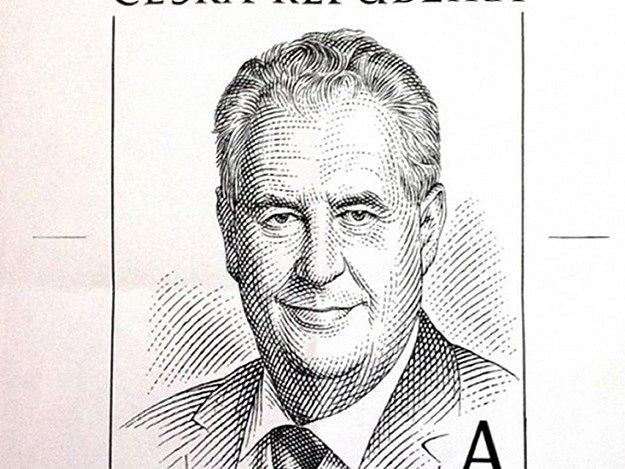 Miloš Zeman, nastupující prezident České republiky, schválil rozkresbu svého portrétu pro poštovní známku. Rozkresby se zhostil český grafik a rytec Miloš Ondráček.