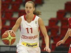 Česká basketbalistka Kateřina Elhotová.