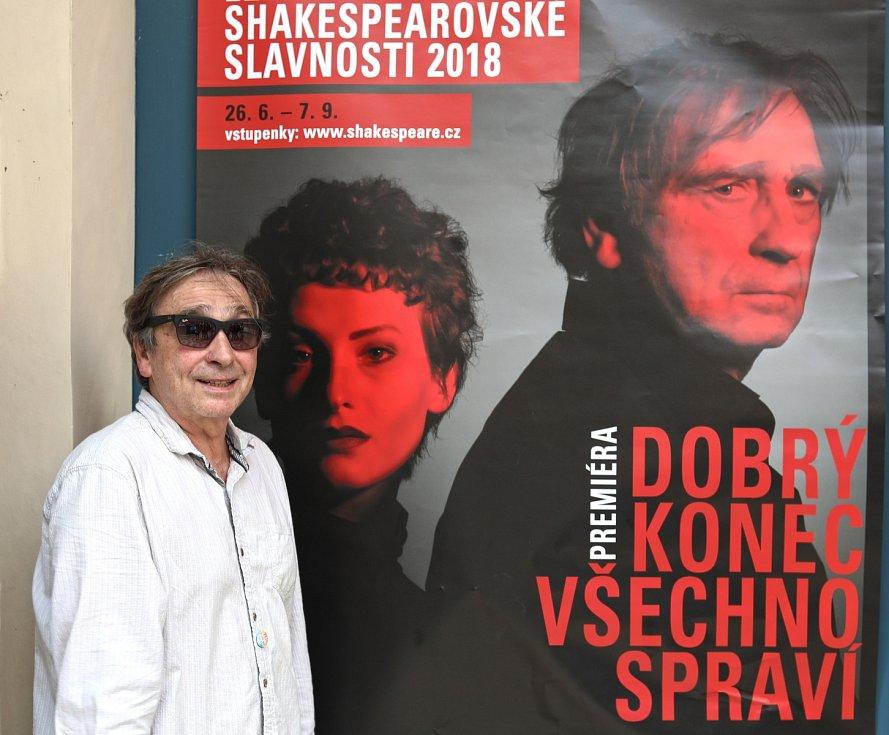Ondřej Pavelka na tiskové konferenci k Letním shakespearovským slavnostem 2018