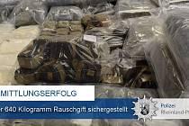 Zadržené drogy v Německu