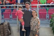 Jaroslav Bába s manželkou Martinou a dcerou Rebekou.