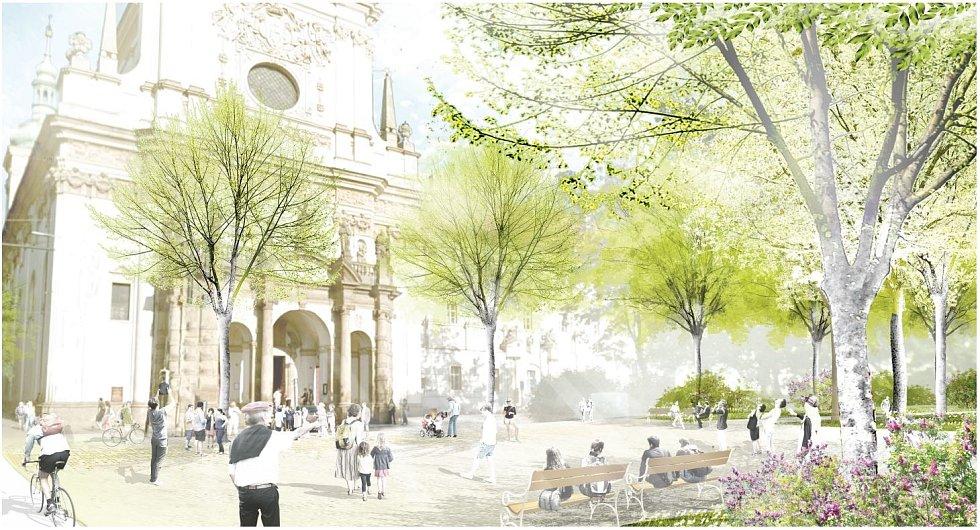 Vizualizace druhé etapy proměny Karlova náměstí