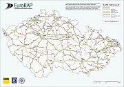 Nová mapa ukazuje silnice smrti.
