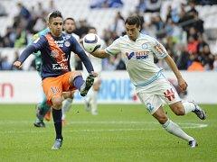 Snímek ze zápasu Marseille - Montpellier
