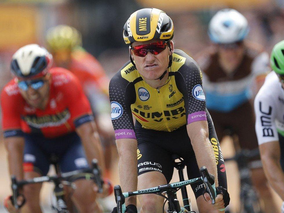 Mike Teunissen v první etapě Tour de France